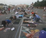 Chalk artists at work