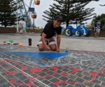 Local artist, Wes - Central Coast Chalk the Walk 2020