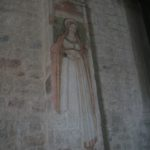 Just one of the beautiful works inside the Church
