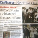 We made the paper!  146 artists including 1 Australian
