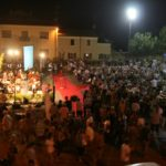 People gather for the final concert - we had a birdseye view