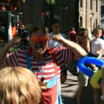 Pepe the Clown entertains the crowds