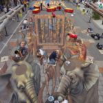 chalk art by Kurt Wenner and 13 assistants