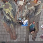 Australia's Jenny McCracken was one of the artists selected to work with Kurt Wenner