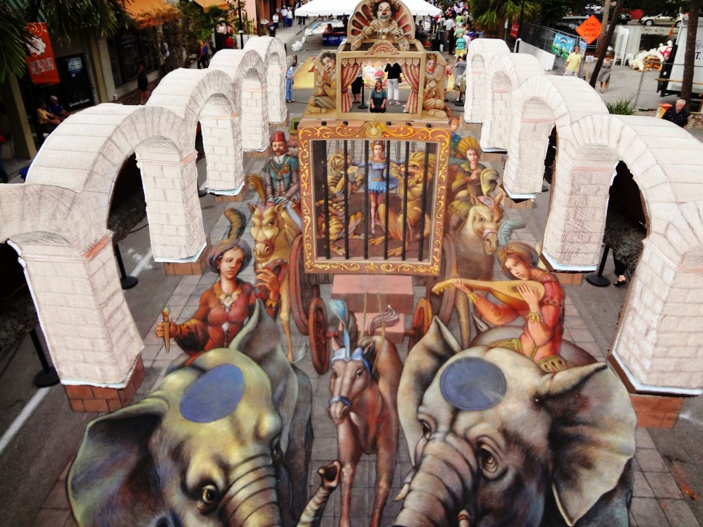 Jenny McCracken worked with Kurt Wenner on his artwork