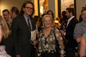 Lucy Turnbull with Charles Waterstreet at the VIP screening of Chalk: An Australian Perspective